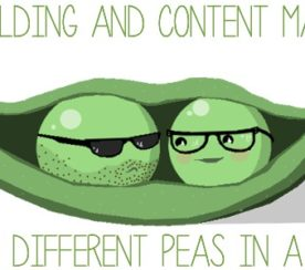 Link Building and Content Marketing: Two Different Peas in a Pod