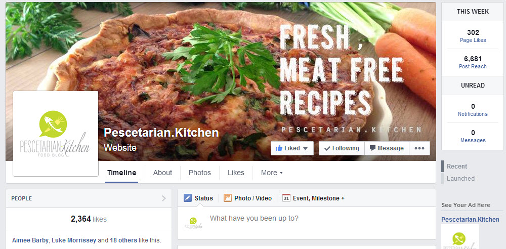 Pescetarian Kitchen Facebook page