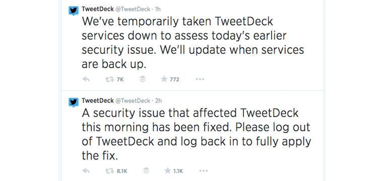 tweetdeck hacked