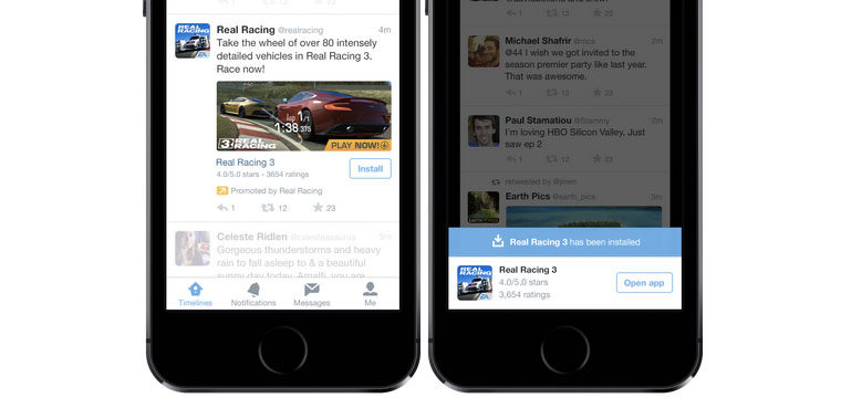 Twitter Offers Mobile App Promotion To All Advertisers