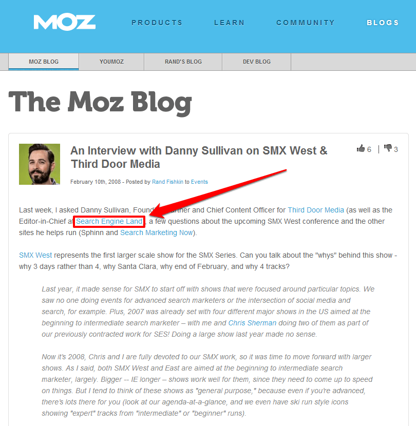 Danny Sullivan Moz Interview with Arrow