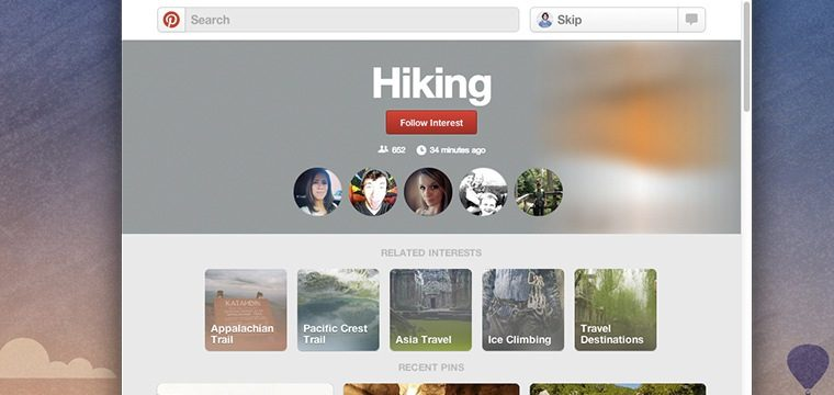Pinterest Categories: Follow What Interests You With New Pinterest Category Pages