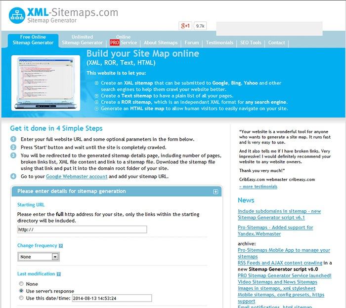 Google Xml Sitemap: Top 25 Free SEO Tools For On-Page Optimization
