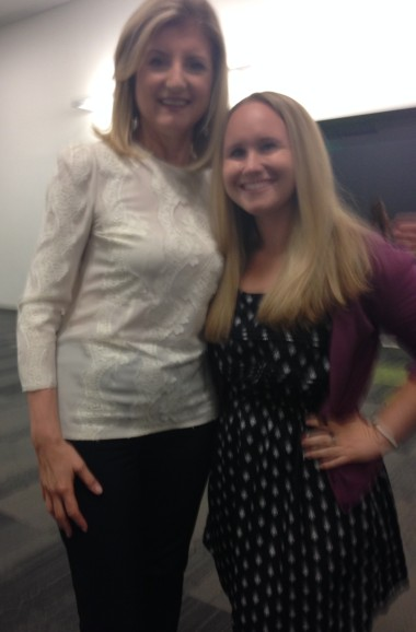 SEJ's Social Media Manager, Debbie Miller, with Arianna Huffington at BlogHer.