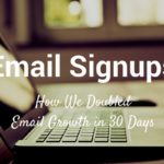 email signups
