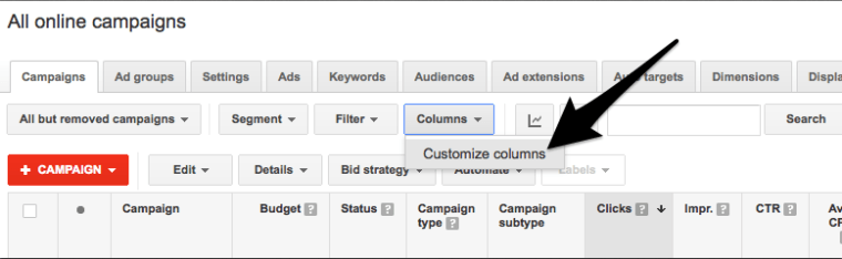 AdWords Assist Clicks
