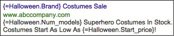 Image of Halloween ad customizers