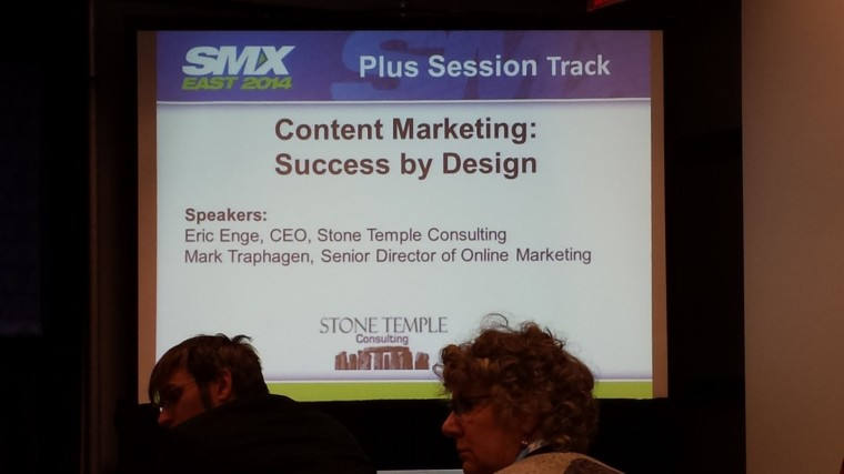 SMX East Content Marketing: Success by Design