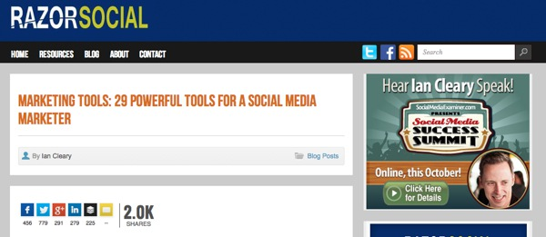 RazorSocial Powerful Tools