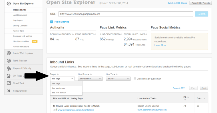 open site explorer review | 14 of The Best Paid Search and SEO Tools