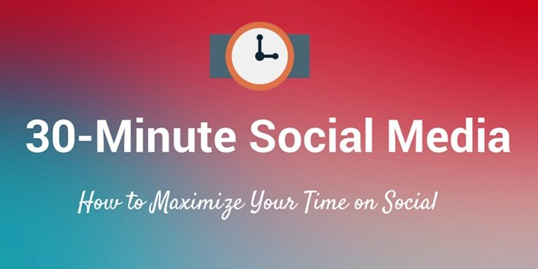 What's the Best Way to Spend 30 Minutes of Your Time on Social Media Marketing?
