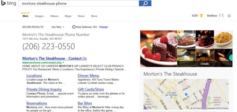 Bing Makes Local Search More Intuitive With Google-Like Quick Answers