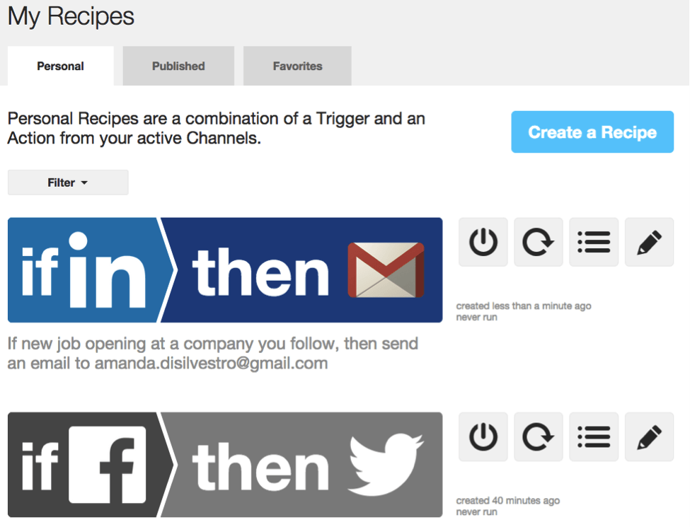 ifttt-recipes