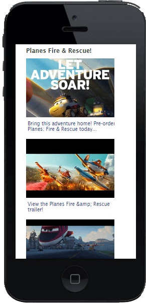 Disney Planes Mobile Native Video