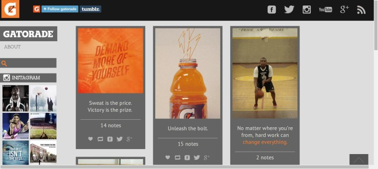 Gatorade - Tumblr