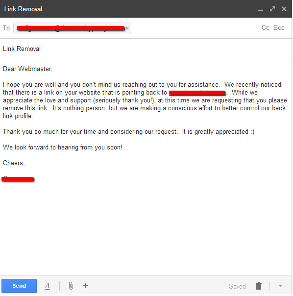link outreach email