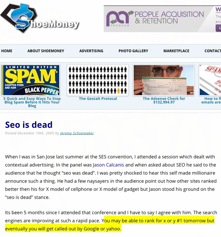 SEO is as Dead as Google