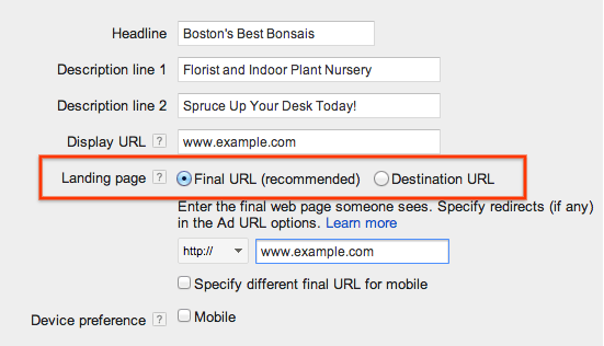 Goodbye, AdWords Destination URLs | Search Engine Journal