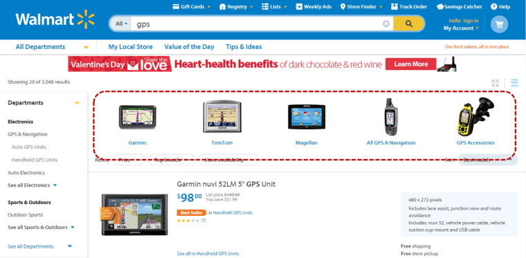 Screenshot from walmart.com taken 2/1/2015
