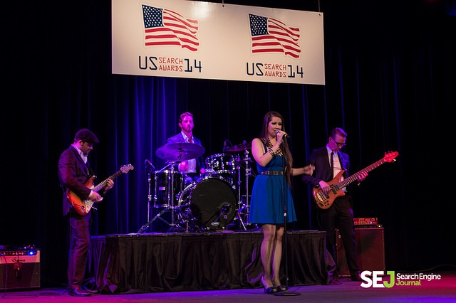 band at the US Search Awards 2014