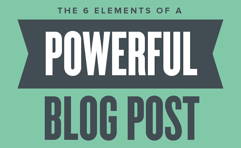 Elements of a Powerful Blog Post Infographic