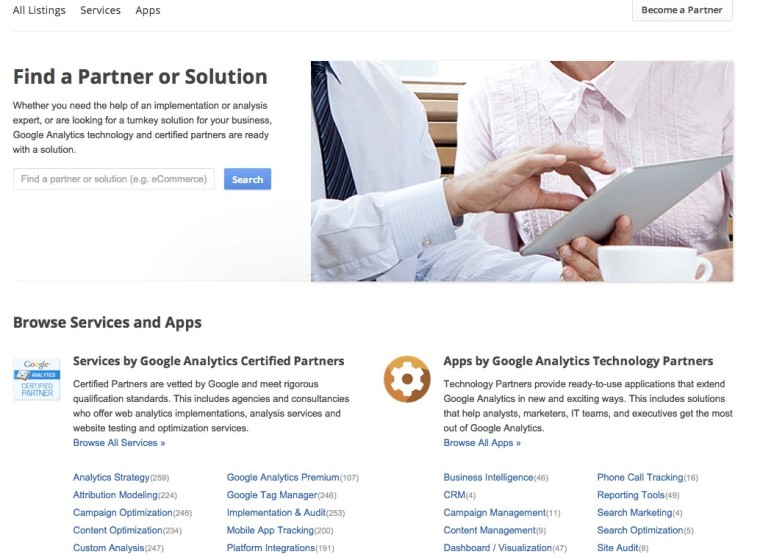 Find-a-Google-Partner-Solution
