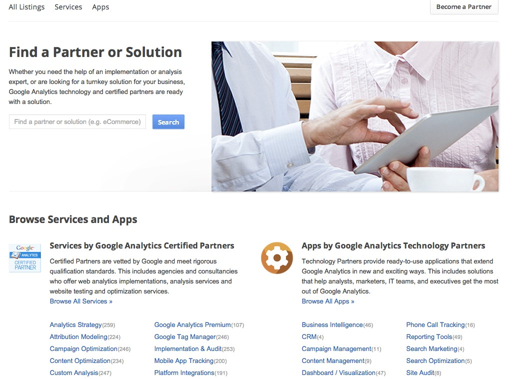Using The Partner Gallery Feature From Google Analytics