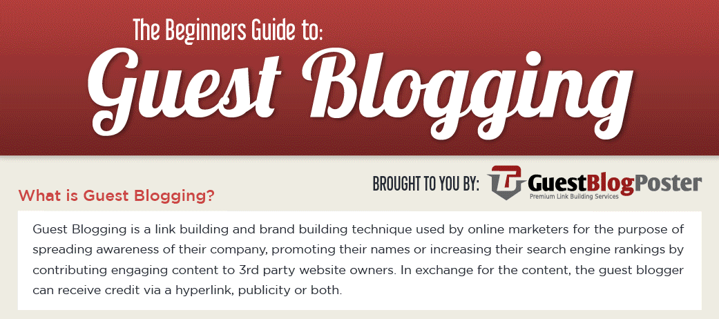 Guide to Guest Blogging Infographic
