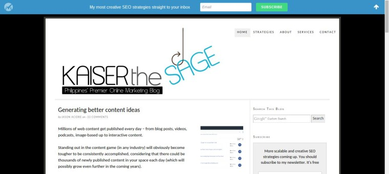 Kaiserthesage – Philippines' Premier Online Marketing Blog