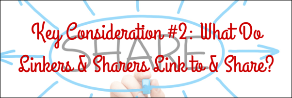 What do linkers & sharers link to & share?