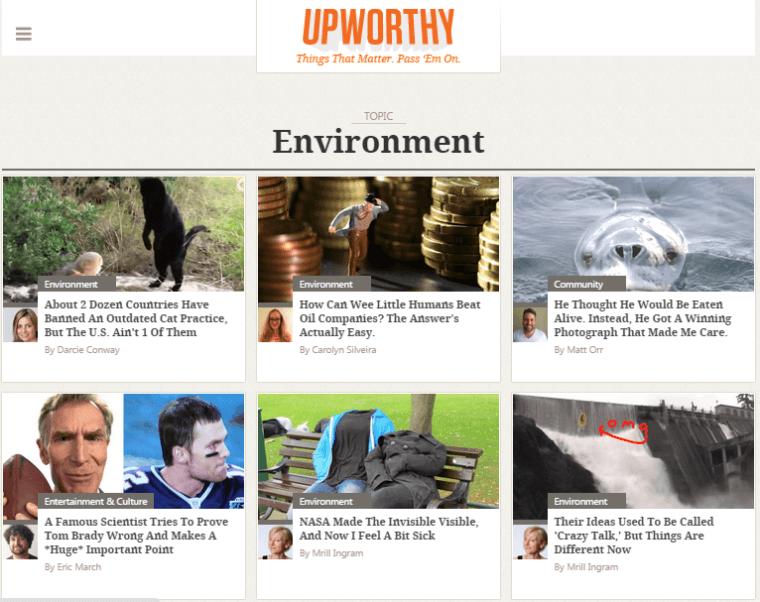 growth hacking company upworthy