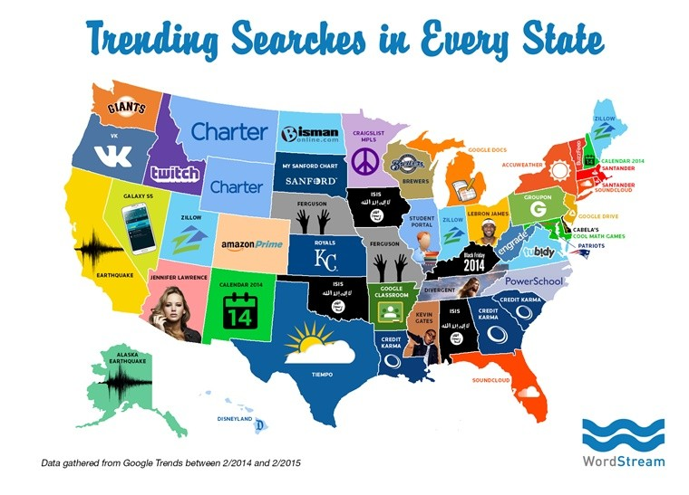 Search Trends in All 50 States | Search Engine Journal