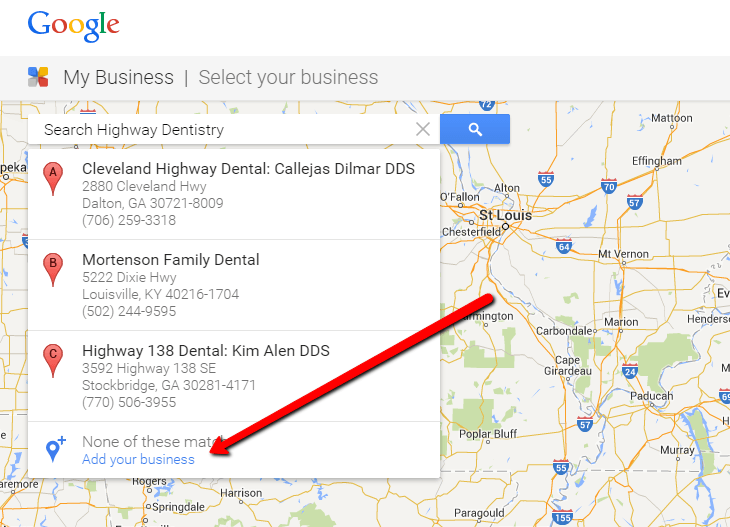 how to get your business name on google search