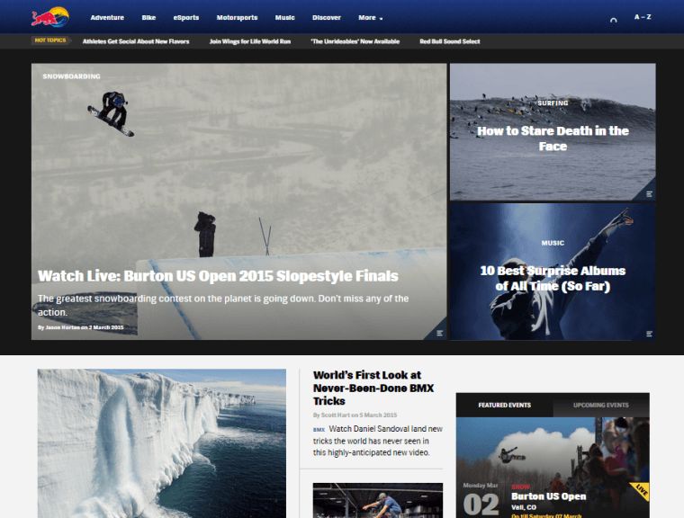 Red Bull Home Page