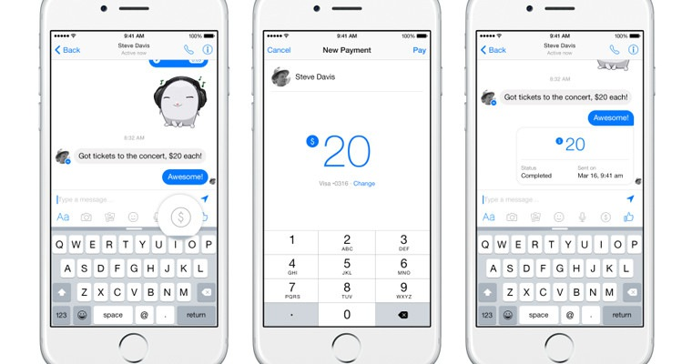 Facebook Makes It Possible To Send Money Between Friends