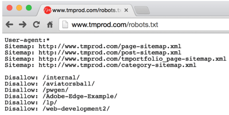 Check the Robots.txt