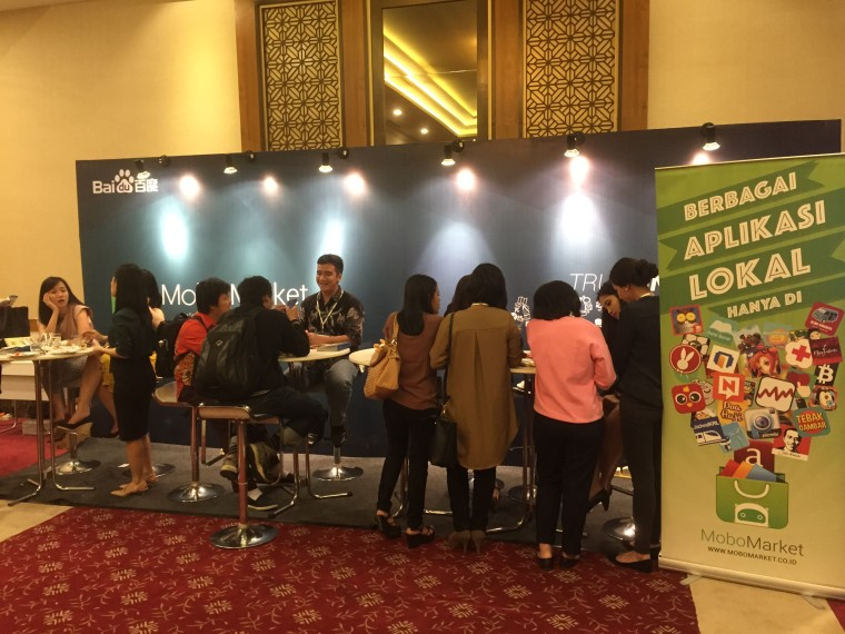 Baidu booth at Echelon. Photo courtesy of e27