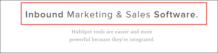 HubSpot home page screenshot, mentioning Inbound Marketing.