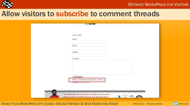 Allow visitors to subscribe to blog comment threads