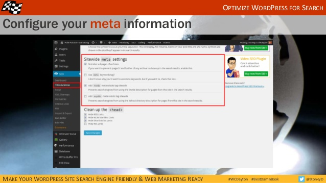How to configure your meta information in WordPress