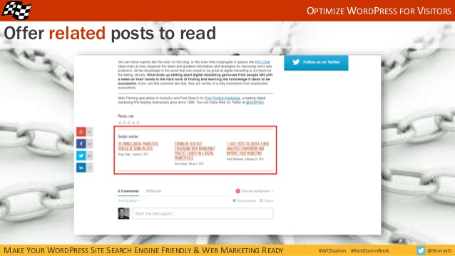 Offer related posts on your blog articles