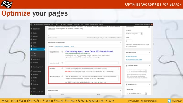 Optimize your web pages in WordPress