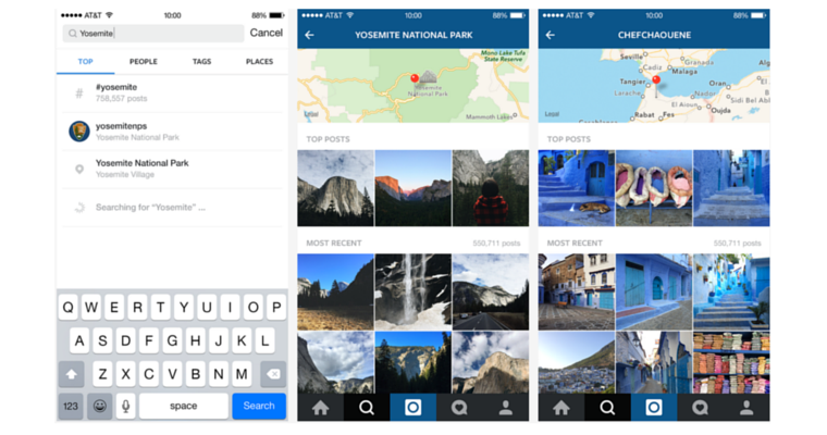 Instagram Now Lets You Search By Location, And More