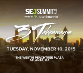 Save the Date for #SEJSummit Atlanta: November 10, 2015