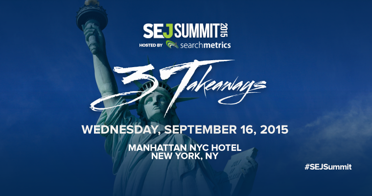 Now Here's a Conference You Don't Want to Miss: #SEJSummit New York