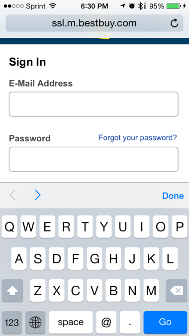 Email Input Type on Mobile