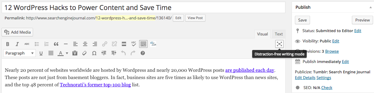 12 WordPress Hacks to Save Time and Power Content | SEJ
