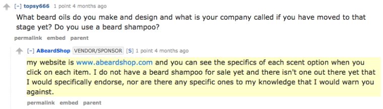 ABeardShop responds to a comment