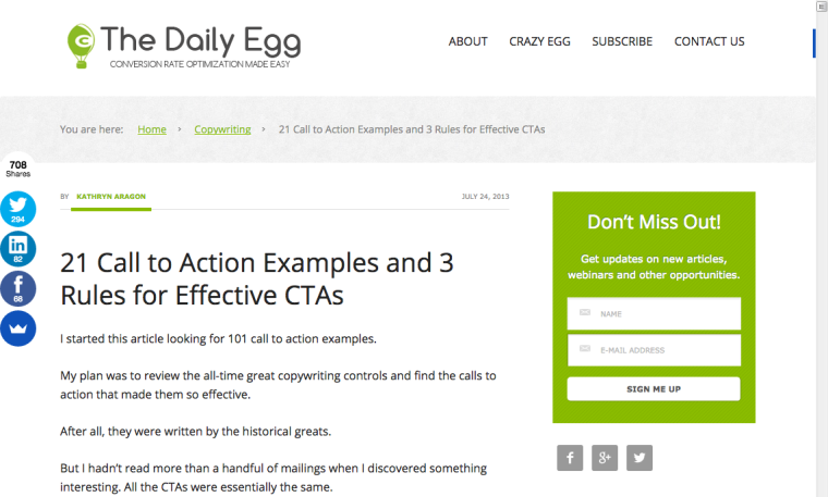 21 Call to Actions