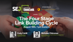Next #SEJThinkTank Webinar: The Four Stage Link Building Cycle by Page One Power